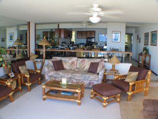 Princeville condo photo - Comfortable living area with sleeper sofa