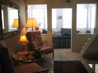 Vieques Island house photo - 2nd floor with living room, window seat can serve as single bed