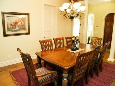 Large dining room to accommodate a group of 8!