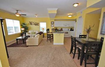 Tidewater Beach Resort condo rental - Large open living area