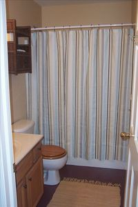 Full bath with tub and shower, towels provided.  Hot outdoor shower, too!