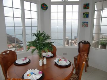 Kitchen Nook with views of the Atlantic Ocean and the Caribbean Sea