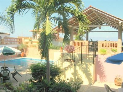 The pool is just outside La Casita. Stairs lead to UPPER DECK & stunning views