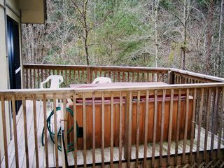 Pigeon Forge chalet photo - Back Deck has great Hot Tub for Relaxing
