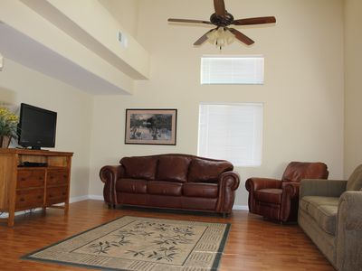 Mesquite condo rental - Spacious Living Room with Flat Panel TV(cable) and hardwood floor