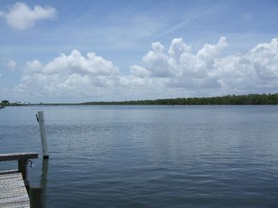 Deeded fishing dock and sitting area on Estero Bay