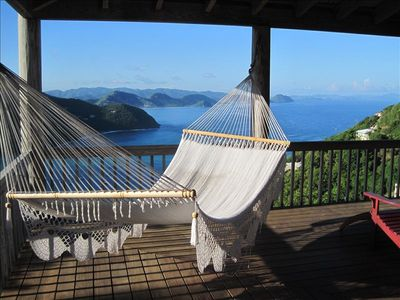 Hammock view from Makere House 12-foot wrap around deck.