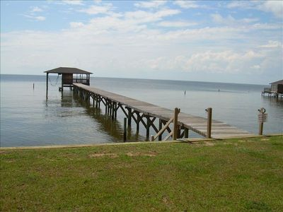 Pier out in Mobile Bay