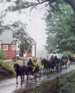 Carriages going through our property.