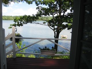 Unity cottage photo - View of peaceful pond from deck