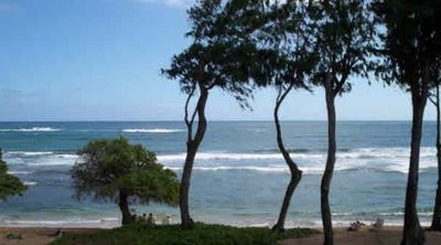 On the beach in Kauai - view from your lanai!