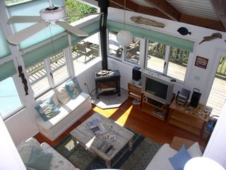 Chilmark house photo - the LR from above showing decks on 2 sides