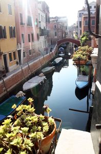 View on Canal San Andrea out of window on the right corner of the sitting room