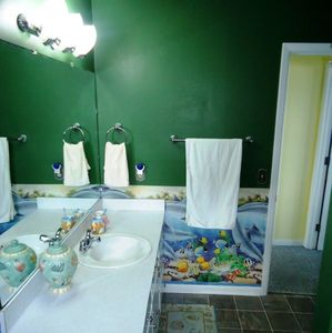 You will love the dolphin bathroom!