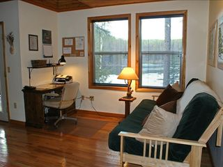 Columbia Falls cabin photo - Office with queen futon & lake views