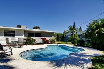 Holmes Beach house rental - Relax by your own private pool in a tropical setting.