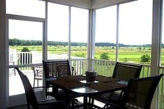 Bethany Beach condo photo - Golf Course View from Screen Porch