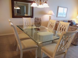 Vanderbilt Beach condo photo - Dining Seating for Six, Bay Front Views!