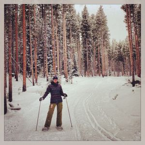 Snow shoeing trail at the Nordic Center