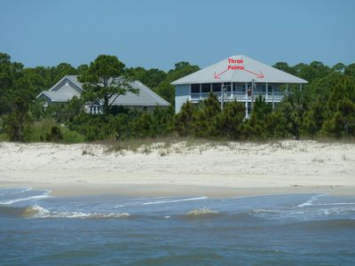 Three Palms Compound Photo From Gulf of Mexico with Gorgeous Views of the Beach