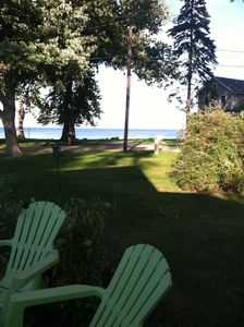 View of Lake Erie from the back deck.