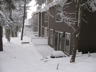 Back of Townhouse; just a few steps to slopes