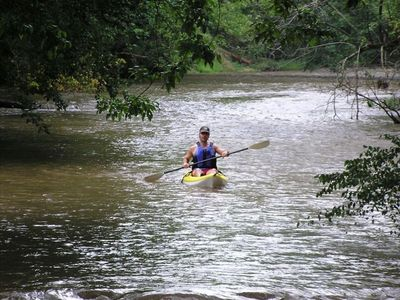 Kayaking the French Broad near the cabin!