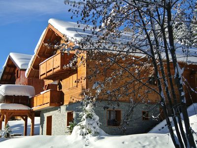 on the slopes of the Gd area of ​​Valmorel, quiet in lisiere Foret - Chalet Robin