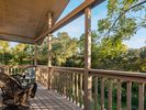 Enjoy wine on the private deck from your master suite