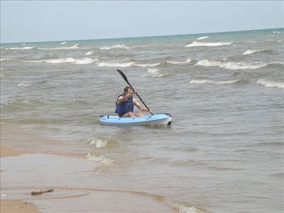Taking a Kayak out in the surf