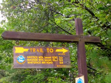 You can start your hike from Bear'n Lodge to this trailhead.