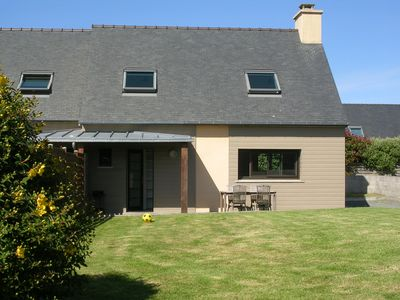 New house facing south in Perros-Guirec, private street very quiet, beach 700m
