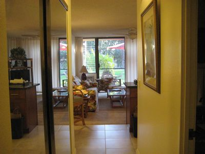 Kihei condo rental - View from bedroom.