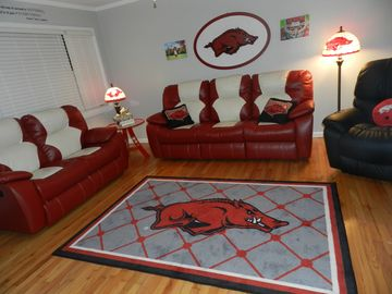 Fayetteville house rental - Hog House Living Room!