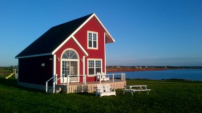 Darnley cottage rental - The Shores ~ Waterviews from every window in the cottage ~ great sunsets!