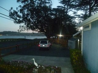 Bodega Bay house photo - Deck at night from house.