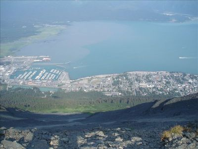 View of Seward from Mount Marathon
