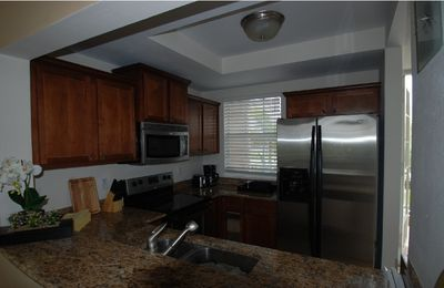 Fully equipped kitchen for 7, New Granite, cabinets,appliances