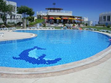 Resort communal pool, bar and restaurant