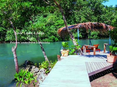 image for Stunning holiday beach  house perched on the waters edge .