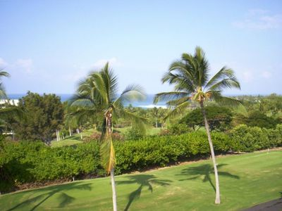 Golf course and Ocean views from your Lanai!