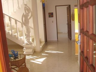 Cabarete villa photo - Villa Leone Entry Hall; A Dancing Sculpture Greets