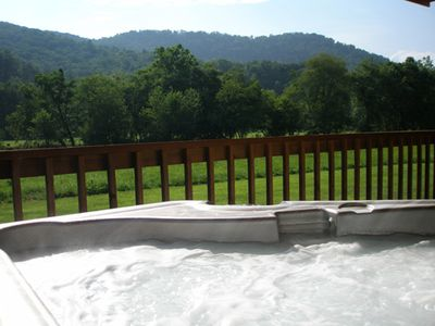 Private Hot Tub on Covered Deck Outside