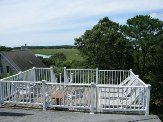 Wellfleet house photo - Private roof deck with loungers and unlimited sun.
