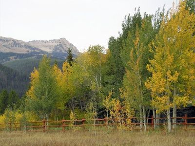 View of Lionhead Mountain in the Fall