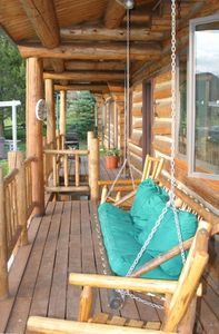 West Yellowstone cabin rental - Swing for Viewing Sunsets from West Deck