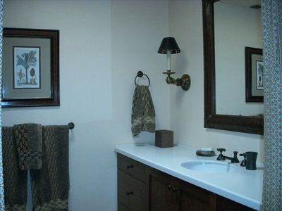 Palm Springs condo rental - Master Bath with large walk-in shower and separate WC