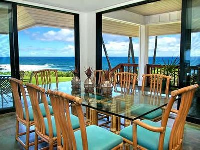 Sunset oceanfront dining