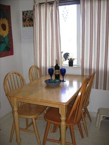 Dining area off of galley kitchen