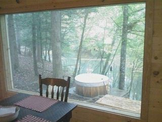 Cleveland cabin photo - View down river looking out of the dining room window